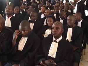 Les avocats du barreau de Lubumbashi au cours des dernières élections.