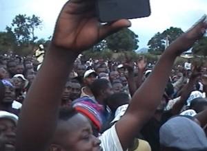 Au meeting de Félix Tshisekedi à Lubumbashi. Photo M3 Didier