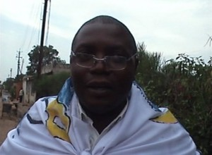 Joël Mutangala, militant de l'UDPS, Katanga. Photo M3 Didier
