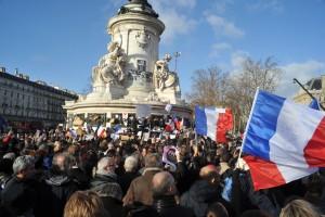 Marche de Pris après l'attaque à Charly Hebdo. Source: wikipedia