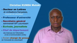 Christian Kunda, professeur à l'Université de Lubumbashi